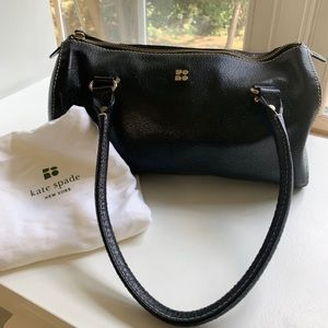 late Spade black leather purse